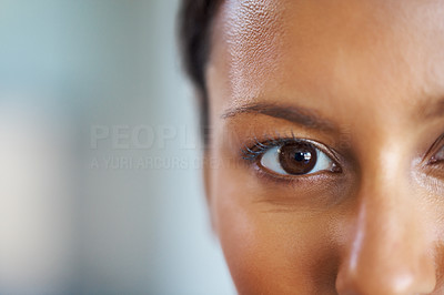 Buy stock photo Closeup view of pretty woman's face