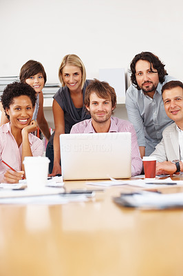 Buy stock photo Group of successful business people meeting in the office