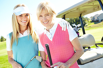 Golfing with mom