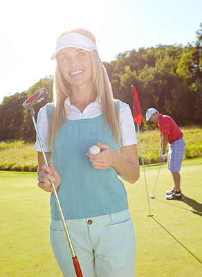 Golfing is a relaxing activity