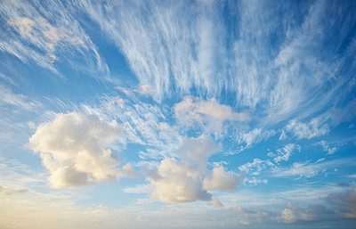 Clouds, blue sky and sunset