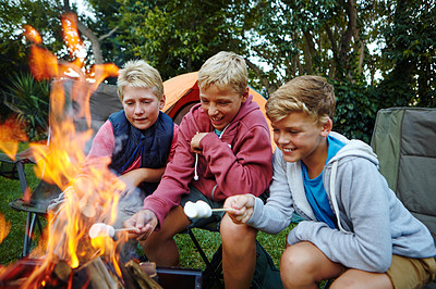 Happiness is... campfire stories and marshmallows