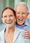 Closeup of a cheerful mature couple enjoying together