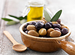 Bowl full of fresh olives