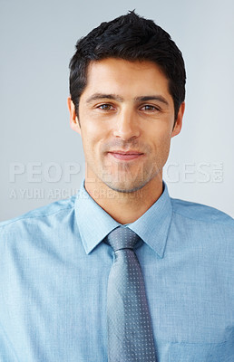 Buy stock photo Closeup of businessman smiling