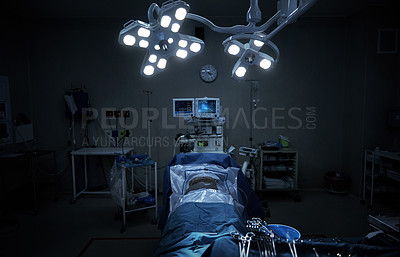 Buy stock photo Cropped shot of an empty operating theatre