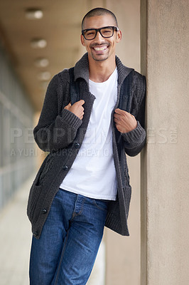 Buy stock photo Portrait of a college student at campus