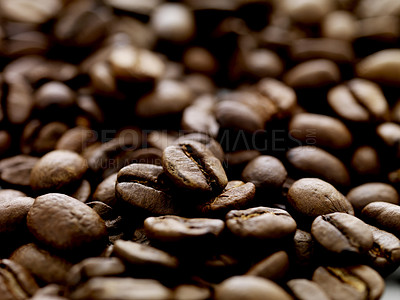 Buy stock photo Elite roasted coffee beans background