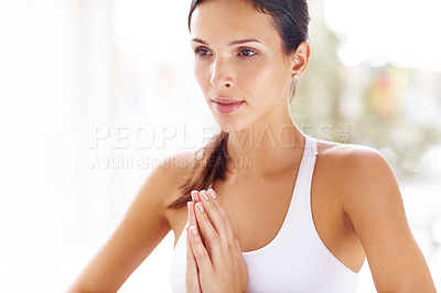 Buy stock photo Meditation is tongue of the soul and language of o