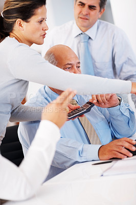 Buy stock photo Group of business people discussing in office
