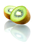 Isolated Kiwi fruits