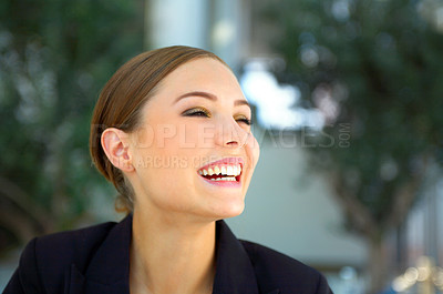 Buy stock photo Shot of a beautiful young businesswoman
