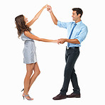 Young dancing couple