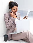 Businesswoman using cellphone