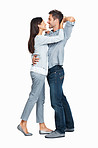 Romantic couple dancing together