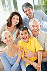 Multi generational family having a good time together