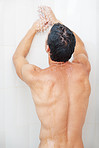 Man having shower