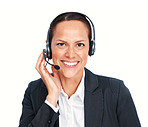 Friendly call center executive