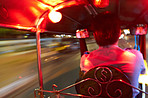Traveling in a tuk-tuk in Thailand