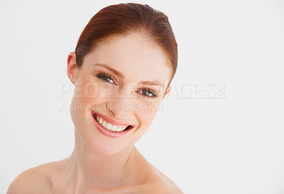 Buy stock photo A young woman smiles candidly