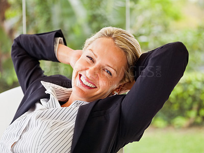 Buy stock photo An attractive mature business woman, smiling