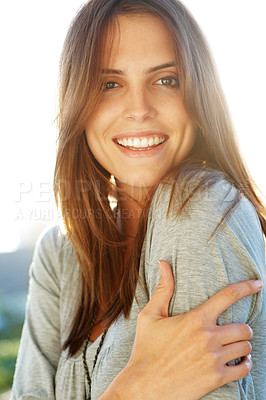 Buy stock photo Beautiful smiling young female model