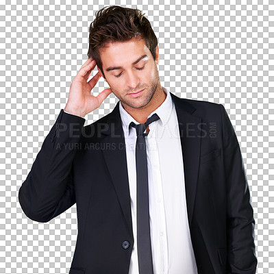 Buy stock photo A young man wearing evening wear - isolated background