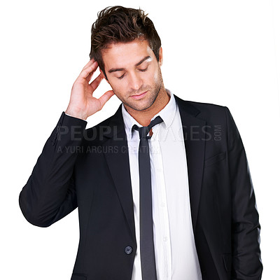 Buy stock photo A young man wearing evening wear looking happy