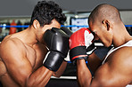 Sparring face to face