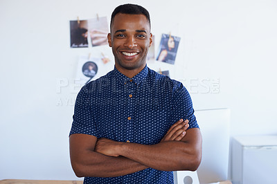 Buy stock photo A young man in the office