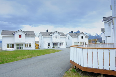 Buy stock photo A photo of historical houses in Norway