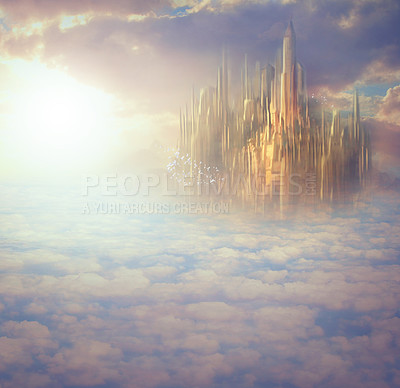 Buy stock photo Concept shot of what Heaven would look like