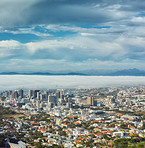 Clouds over Cape Town