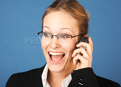 Buy stock photo Surprised businesswoman