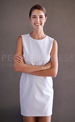 Buy stock photo Studio shot of a gorgeous young
