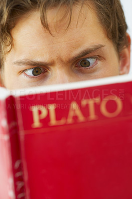 Buy stock photo Philosophy is difficult stuff!!!