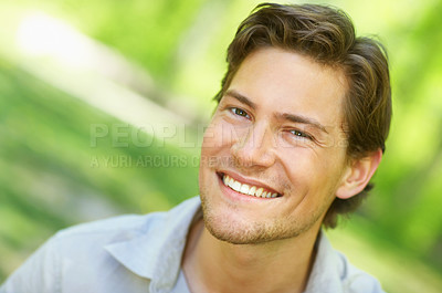 Buy stock photo Natural looking young man