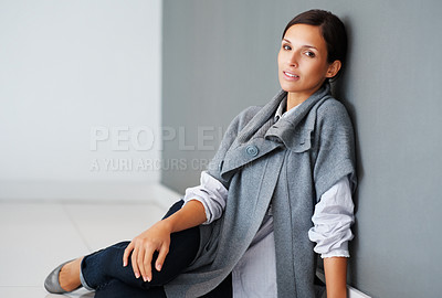 Buy stock photo Pretty woman looking vulnerable