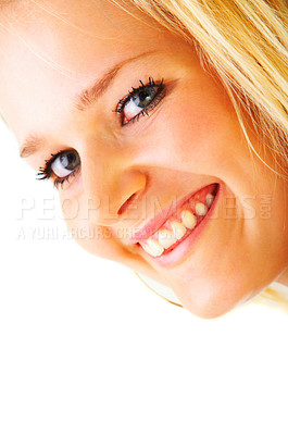Buy stock photo Portrait of a beautiful young model