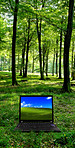 Touching nature with modern technology