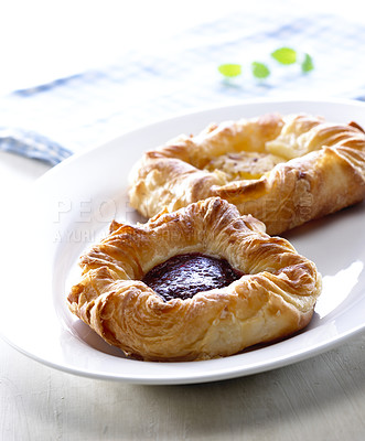 Buy stock photo Danish pastry. Taken in european style.