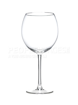 Buy stock photo Shot of an isolated wine glass