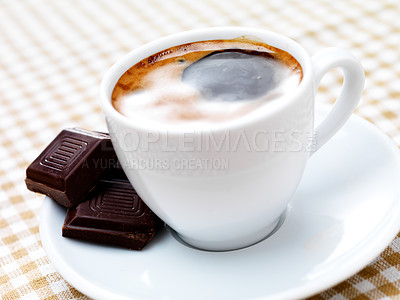 Buy stock photo A cup of coffee