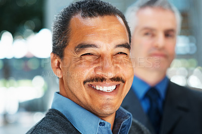 Buy stock photo Closeup of distinguished executive smiling