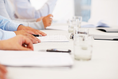 Business people hands with papers while planning work