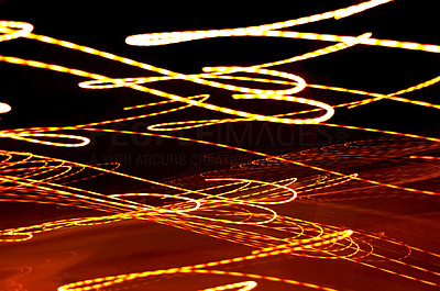 Buy stock photo This is a long-exposed photograph of lights which is perfect for a background because of its visual impact.