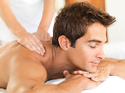 Drifting on blissful daydreams during a soothing massage