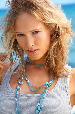 Buy stock photo Fashion shot on the beach. Summer 2006