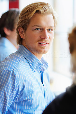 Buy stock photo A young, confident business man