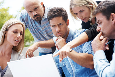 Group of business people working on new business project